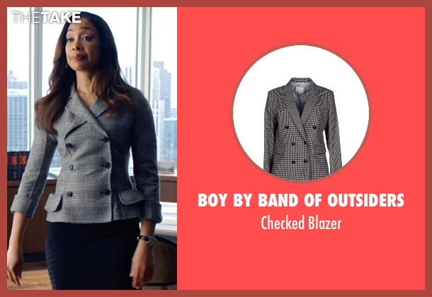 Boy By Band of Outsiders gray blazer from Suits seen with Jessica Pearson (Gina Torres)