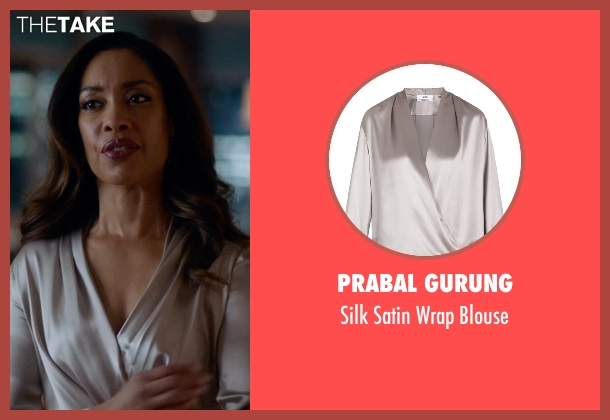 Prabal Gurung gray blouse from Suits seen with  Jessica Pearson (Gina Torres)