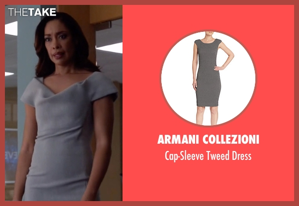 Armani Collezioni gray dress from Suits seen with  Jessica Pearson (Gina Torres)