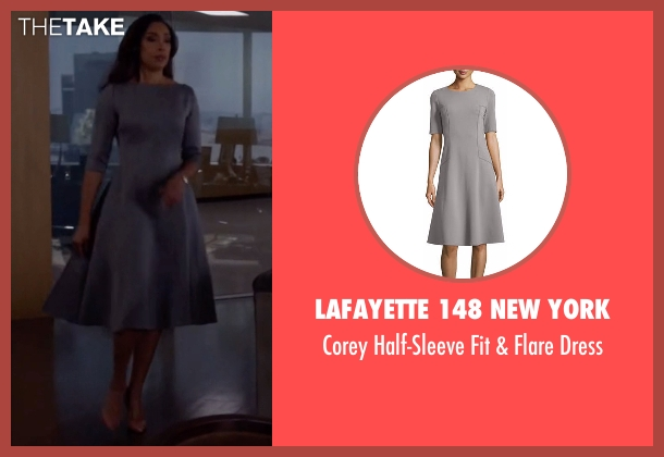 Lafayette 148 New York gray dress from Suits seen with  Jessica Pearson (Gina Torres)