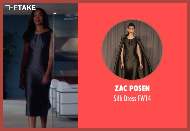 Zac Posen gray fw14 from Suits seen with  Jessica Pearson (Gina Torres)