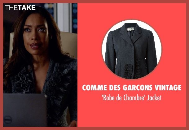 Comme Des Garcons Vintage gray jacket from Suits seen with  Jessica Pearson (Gina Torres)