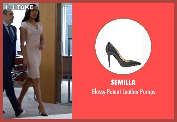 Semilla gray pumps from Suits seen with  Jessica Pearson (Gina Torres)
