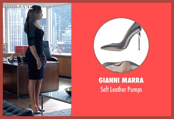 Gianni Marra gray pumps from Suits seen with Jessica Pearson (Gina Torres)