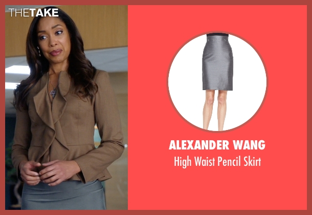 Alexander Wang gray skirt from Suits seen with  Jessica Pearson (Gina Torres)