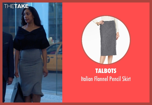 Talbots gray skirt from Suits seen with  Jessica Pearson (Gina Torres)