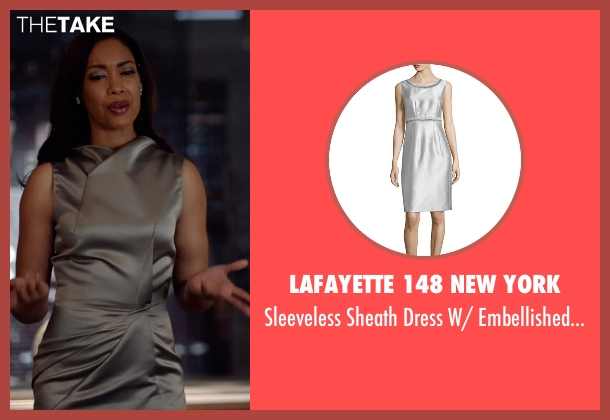 Lafayette 148 New York gray trim from Suits seen with Jessica Pearson (Gina Torres)