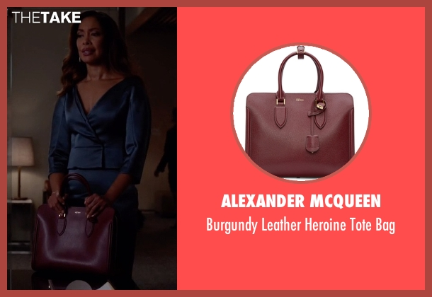 Alexander McQueen red bag from Suits seen with Jessica Pearson (Gina Torres)
