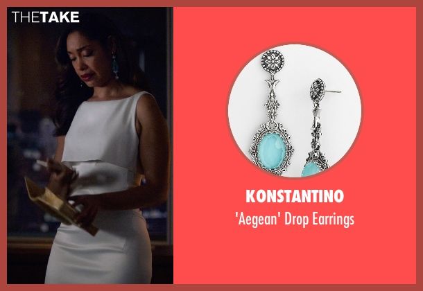 Konstantino silver earrings from Suits seen with  Jessica Pearson (Gina Torres)