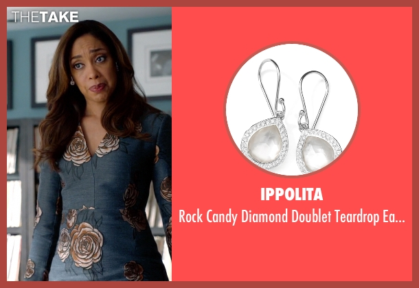 Ippolita silver earrings from Suits seen with  Jessica Pearson (Gina Torres)