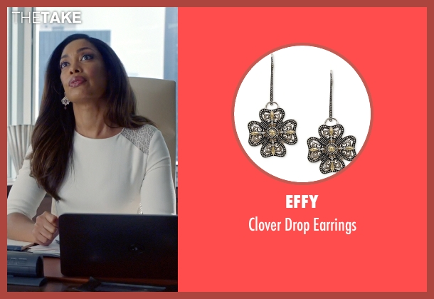 Effy silver earrings from Suits seen with  Jessica Pearson (Gina Torres)