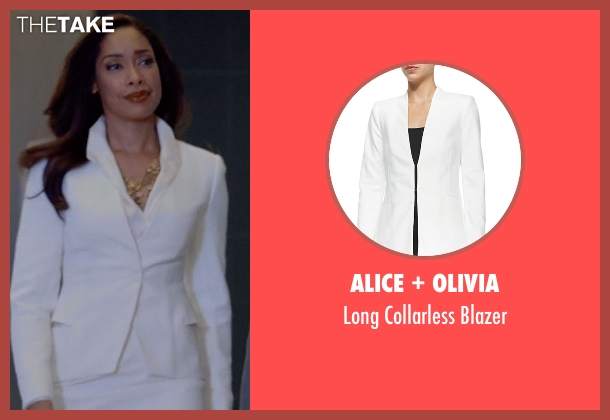 Alice + Olivia white blazer from Suits seen with  Jessica Pearson (Gina Torres)