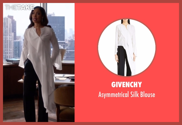 Givenchy white blouse from Suits seen with  Jessica Pearson (Gina Torres)