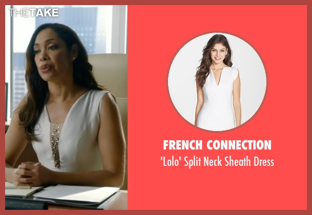 French Connection white dress from Suits seen with Jessica Pearson (Gina Torres)
