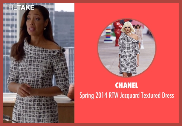 Chanel white dress from Suits seen with  Jessica Pearson (Gina Torres)