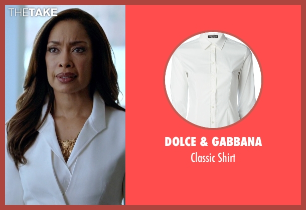 Dolce & Gabbana white shirt from Suits seen with  Jessica Pearson (Gina Torres)