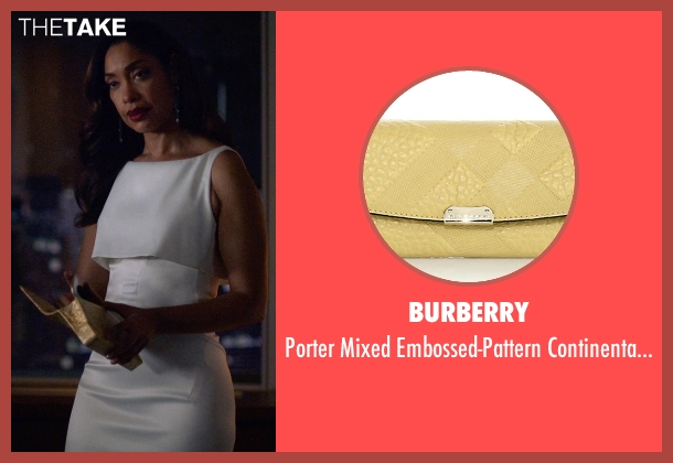 Burberry yellow wallet from Suits seen with  Jessica Pearson (Gina Torres)