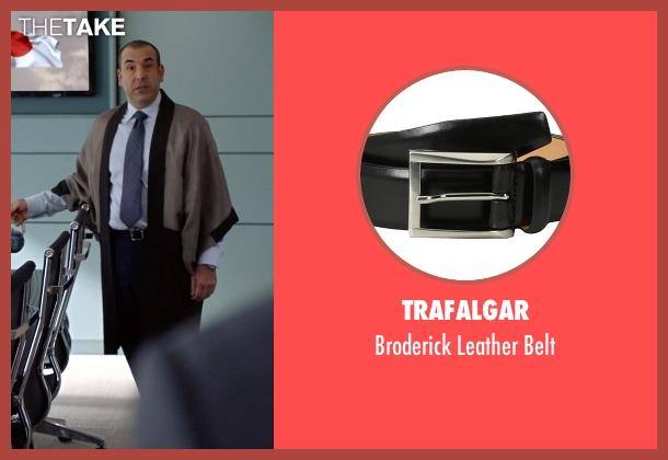 Trafalgar black belt from Suits seen with  Louis Litt (Rick Hoffman)