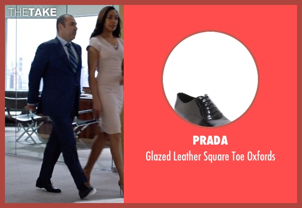 Prada black oxfords from Suits seen with  Louis Litt (Rick Hoffman)
