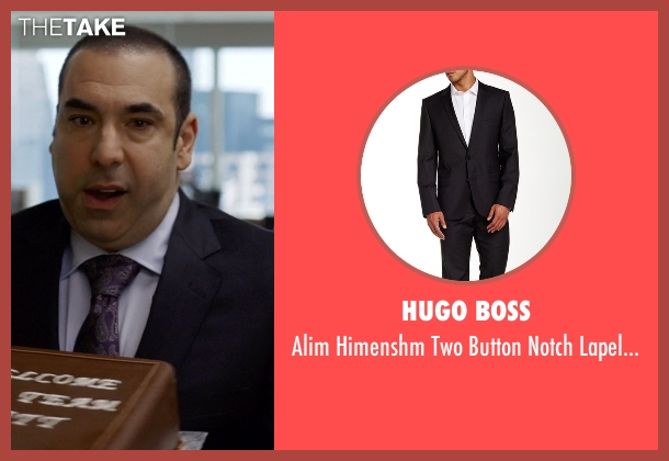 Hugo Boss black suit from Suits seen with  Louis Litt (Rick Hoffman)