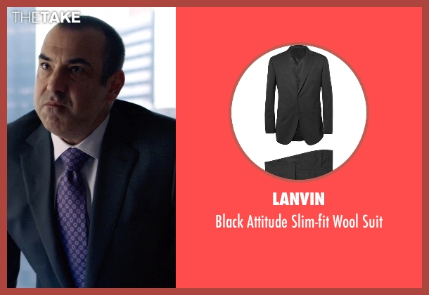 Lanvin black suit from Suits seen with  Louis Litt (Rick Hoffman)