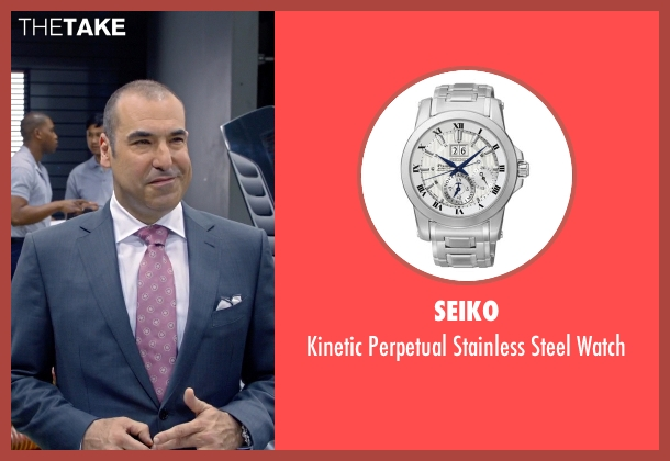 Seiko black watch from Suits seen with Louis Litt (Rick Hoffman)