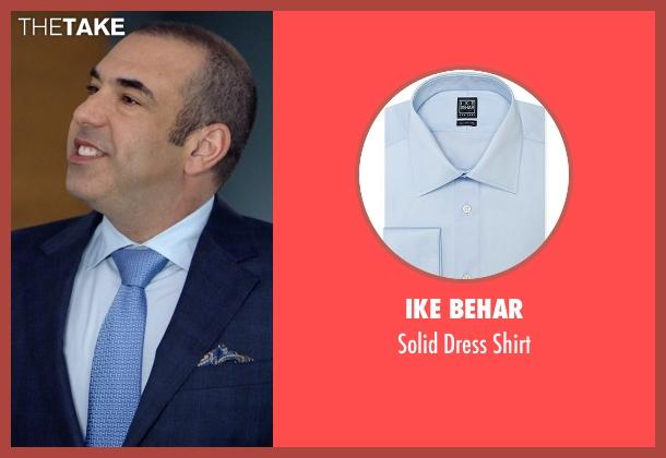Ike Behar blue shirt from Suits seen with  Louis Litt (Rick Hoffman)