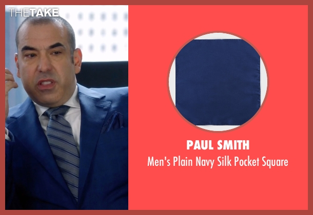 Paul Smith blue square from Suits seen with  Louis Litt (Rick Hoffman)