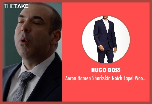 Hugo Boss blue suit from Suits seen with Louis Litt (Rick Hoffman)