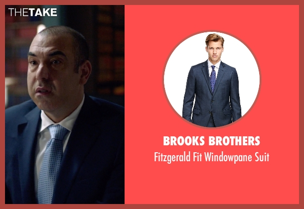 Brooks Brothers blue suit from Suits seen with  Louis Litt (Rick Hoffman)