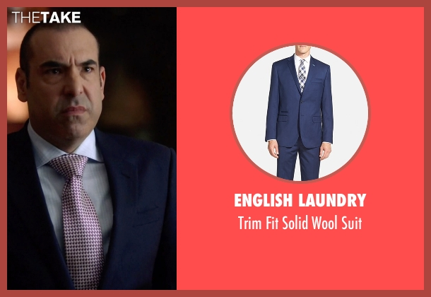 English Laundry blue suit from Suits seen with  Louis Litt (Rick Hoffman)