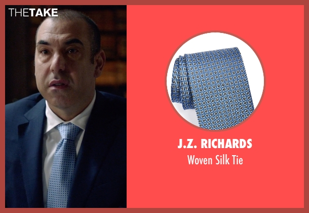J.Z. Richards blue tie from Suits seen with Louis Litt (Rick Hoffman)