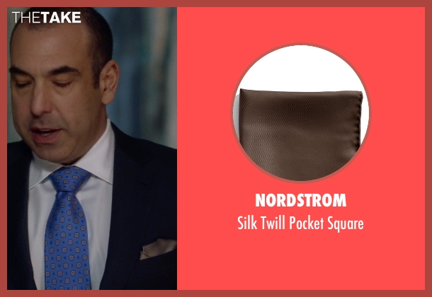 Nordstrom brown square from Suits seen with  Louis Litt (Rick Hoffman)