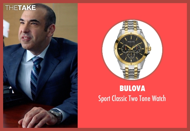 Bulova gold watch from Suits seen with  Louis Litt (Rick Hoffman)