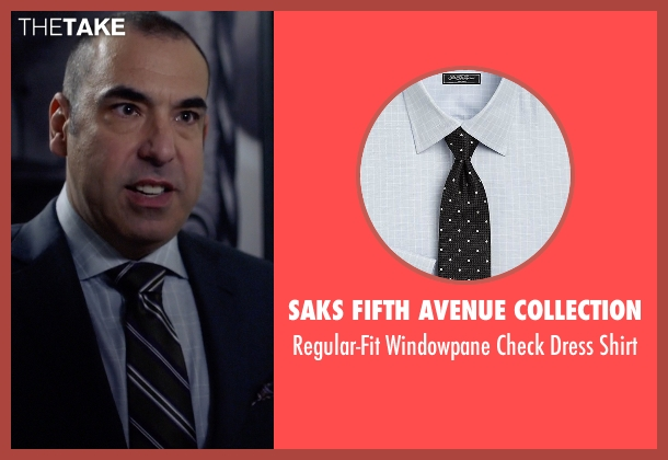 Saks Fifth Avenue Collection gray shirt from Suits seen with  Louis Litt (Rick Hoffman)