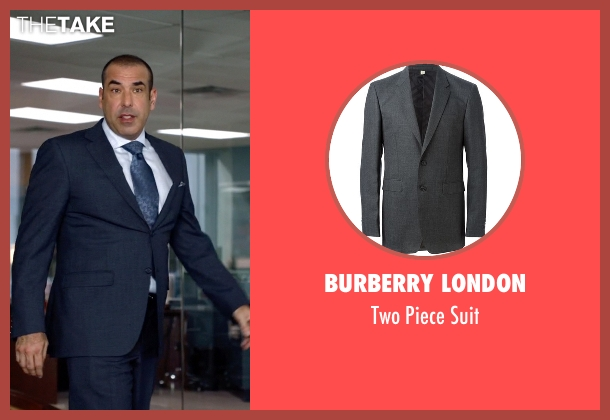Burberry London gray suit from Suits seen with  Louis Litt (Rick Hoffman)