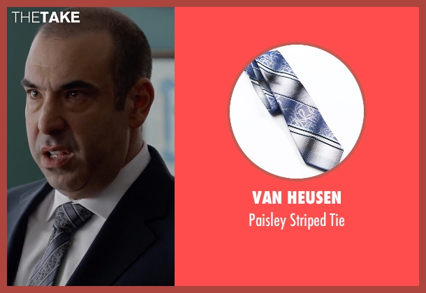 Van Heusen gray tie from Suits seen with  Louis Litt (Rick Hoffman)