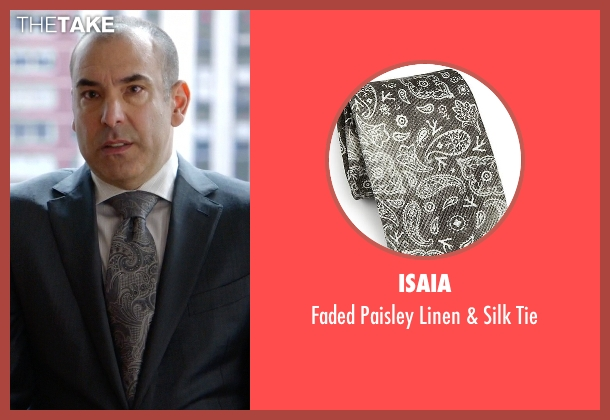 Isaia gray tie from Suits seen with Louis Litt (Rick Hoffman)