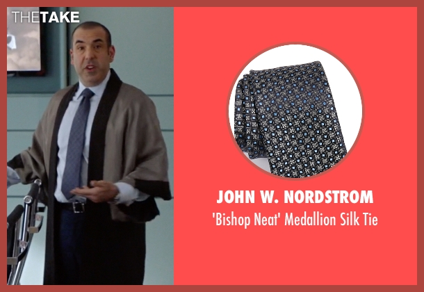 John W. Nordstrom gray tie from Suits seen with  Louis Litt (Rick Hoffman)