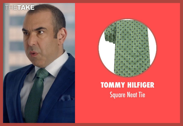 Tommy Hilfiger green tie from Suits seen with  Louis Litt (Rick Hoffman)