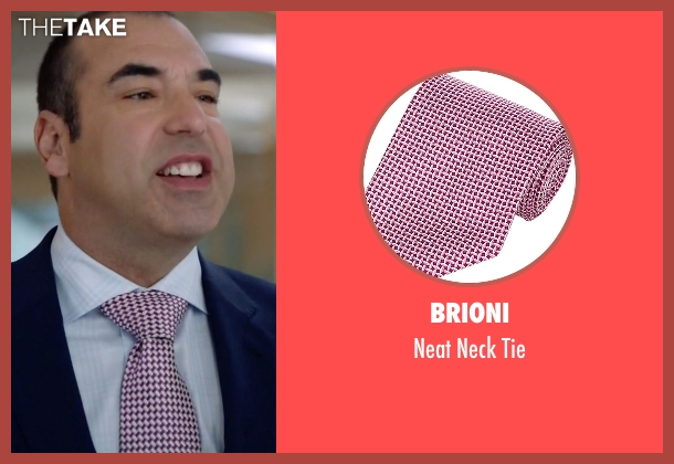 Brioni pink tie from Suits seen with Louis Litt (Rick Hoffman)