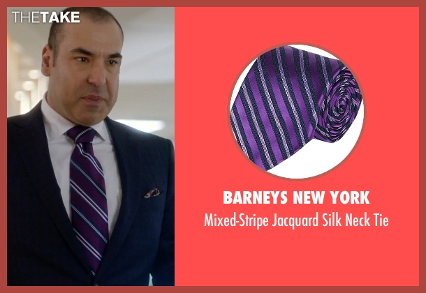 Barneys New York purple tie from Suits seen with  Louis Litt (Rick Hoffman)