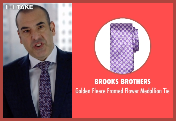 Brooks Brothers purple tie from Suits seen with  Louis Litt (Rick Hoffman)