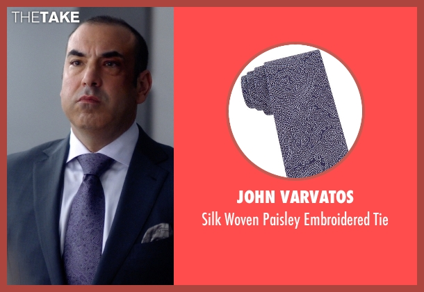 John Varvatos purple tie from Suits seen with Louis Litt (Rick Hoffman)