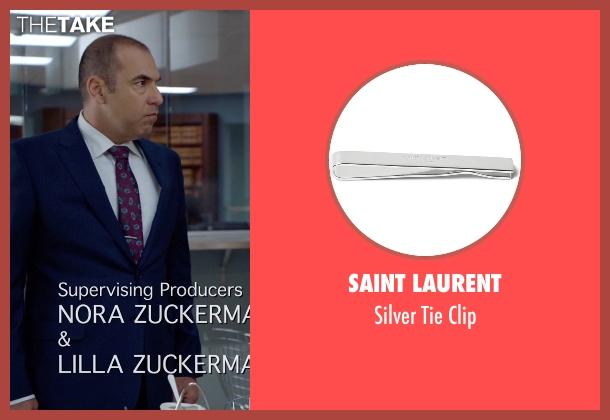 Saint Laurent silver clip from Suits seen with  Louis Litt (Rick Hoffman)