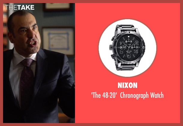 Nixon silver watch from Suits seen with Louis Litt (Rick Hoffman)