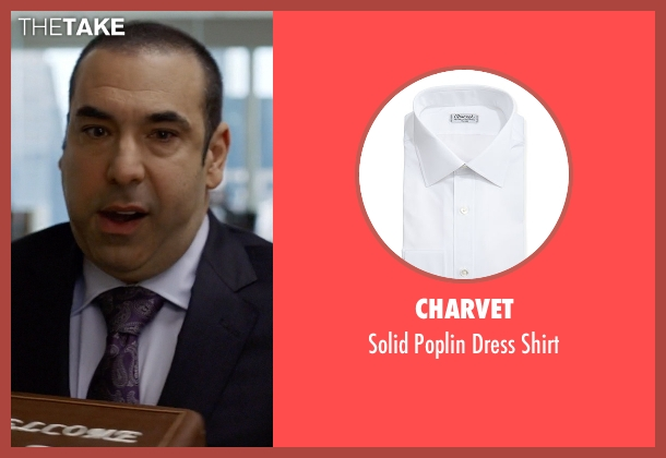 Charvet	 white shirt from Suits seen with  Louis Litt (Rick Hoffman)