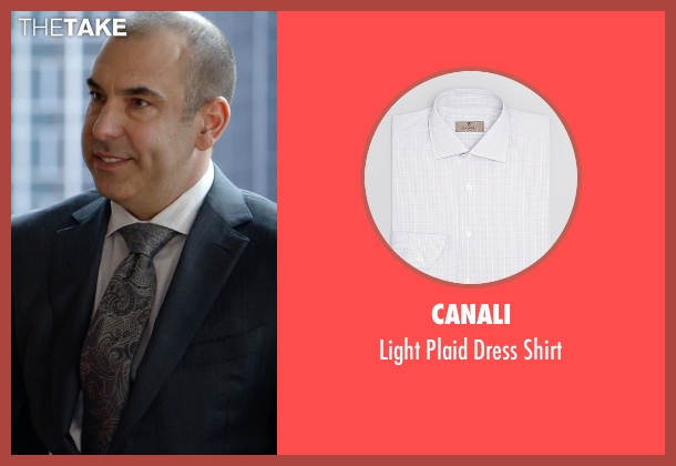 Canali white shirt from Suits seen with  Louis Litt (Rick Hoffman)