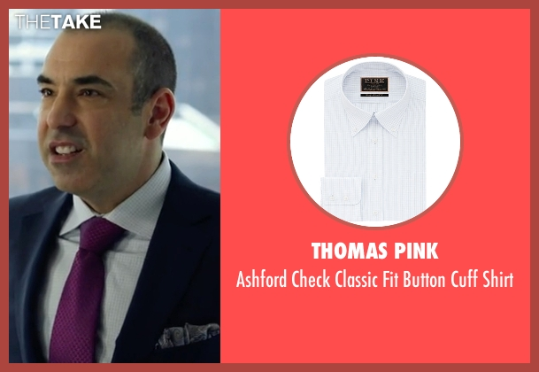 Thomas Pink white shirt from Suits seen with  Louis Litt (Rick Hoffman)