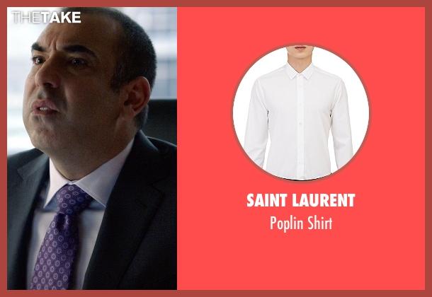 Saint Laurent white shirt from Suits seen with  Louis Litt (Rick Hoffman)